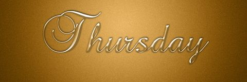 Free Thursday Day Of The Week Text Title Background Design Stock Image - 135227141