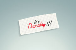 It is Thursday! Stock Photo