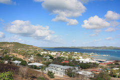 Thursday Island. View from Green Fort Hill lookout on Thursday Island toward Horne Island Stock Photography