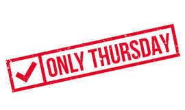 Only Thursday rubber stamp Royalty Free Stock Images