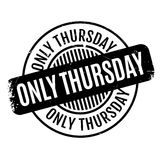 Only Thursday rubber stamp Royalty Free Stock Photography