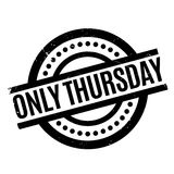 Only Thursday rubber stamp Stock Photos
