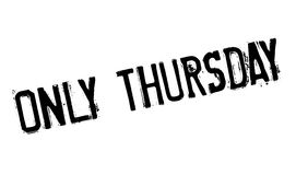 Only Thursday rubber stamp Royalty Free Stock Photos