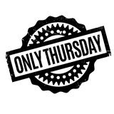 Only Thursday rubber stamp Royalty Free Stock Image