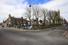 Thurso街道,英国的主要土地的最北的镇 库存照片