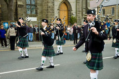 Thurso, Scotland -  August 13 2005. Scottish traditional bagpipe Royalty Free Stock Image