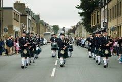 Thurso, Scotland -  August 13 2005. Scottish traditional bagpipe Stock Photo