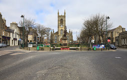 Thurso town center  - memorial monument, northern Scotland Royalty Free Stock Images
