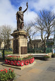 Thurso town center  - memorial monument, northern Scotland Royalty Free Stock Photos