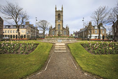 Thurso town center in the morning, northern Scotland Royalty Free Stock Photos
