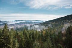 Thurston wzgórzy Naturalnego terenu Sceniczny krajobraz Obraz Royalty Free
