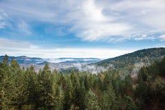 Thurston wzgórzy Naturalnego terenu Sceniczny krajobraz Obrazy Stock