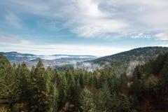 Thurston wzgórzy Naturalnego terenu Sceniczny krajobraz Fotografia Royalty Free