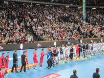 THW Kiel - MT Melsungen HC - 25th Novemver 2015 - Kiel, Północny Niemcy Obraz Royalty Free