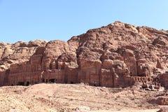 Thw Koninklijke Graven bij Petra Royalty-vrije Stock Foto