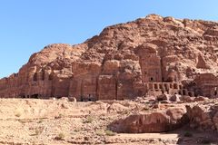 Royal Tombs at Petra Stock Photo