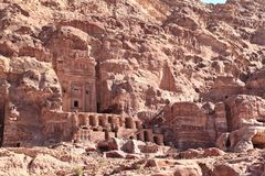 Thw Royal Tombs at Petra Royalty Free Stock Photos