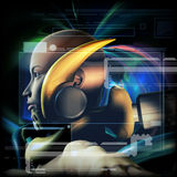 THX 12. Stock illustration conceptual robot composite Stock Photo