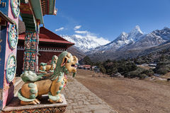 Thyangboche Monastry. Trekking from Deboche to Khumjung Nepal Sagamatha National Park Royalty Free Stock Image