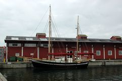 Thyborøn gammal hamn arkivbild