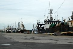 Trawlers in the Harbour Stock Photography