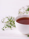Thyme herbal tea. Healthy drink. Alternative medicine Stock Image