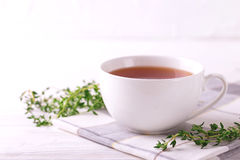 Thyme herbal tea. Healthy drink. Alternative medicine Stock Photography