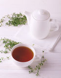 Thyme herbal tea. Healthy drink. Alternative medicine Royalty Free Stock Photography