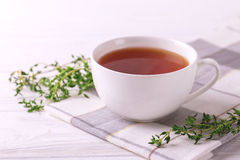 Thyme herbal tea. Healthy drink. Alternative medicine Royalty Free Stock Photo