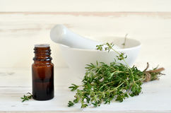 Thyme oil Stock Photography