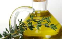 Thyme with Olive Oil Royalty Free Stock Images