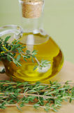Thyme with Olive Oil Royalty Free Stock Photo