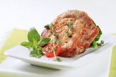 Thyme pork chop Royalty Free Stock Photos