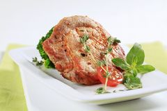 Thyme pork chop Stock Image