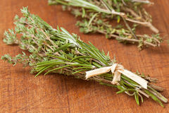 Thyme and rosemary Royalty Free Stock Photos