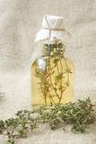 Thyme vinegar Royalty Free Stock Photography