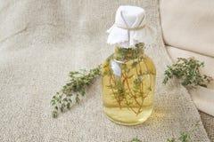 Thyme vinegar Stock Images