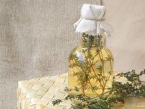 Thyme vinegar Stock Image