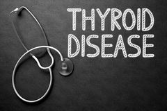 Thyroid Disease - Text on Chalkboard. 3D Illustration. Stock Image