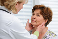 Thyroid function examination Stock Image