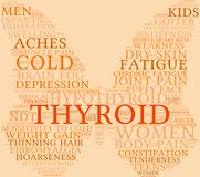 Thyroid Word Cloud. On a pastel background Stock Photo