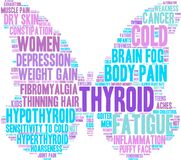 Thyroid Word Cloud. On a white background Royalty Free Stock Image