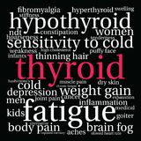 Thyroid Word Cloud Stock Image