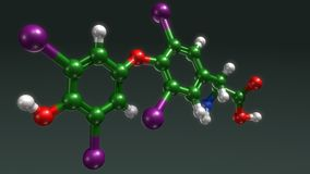 Thyroxine structure Stock Photo