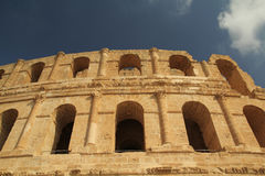 Thysdrus Amphitheater in El Djem Stock Images