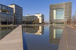 ThyssenKrupp AG (Essen). Essen, Germany - November 1, 2015: Modern architecture at ThyssenKrupp Quartier, office area of German steel company ThyssenKrupp AG in Royalty Free Stock Photo