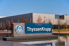 ThyssenKrupp. Essen, Germany - November 1, 2015: Corporate headquarters of German multinational company ThyssenKrupp AG in Essen, Germany Stock Image