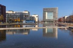ThyssenKrupp Quartier Essen. Essen, Germany - November 1, 2015: Head office of German steel company ThyssenKrupp AG in Essen, Germany Royalty Free Stock Photography