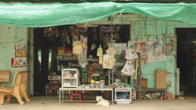Storefront of Traditional Grocery Store in the Countryside of Vietnam stock photography