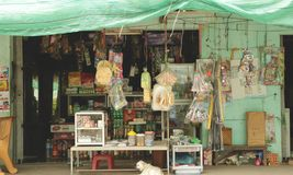 Storefront of Traditional Grocery Store in the Countryside of Vietnam royalty free stock photos